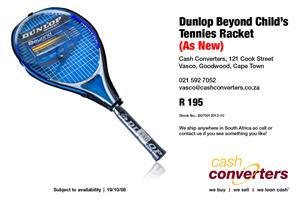 Used, Dunlop Beyond Child's Tennies Racket (As New) for sale  Parow