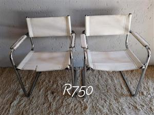 2x Caming chairs for sale.