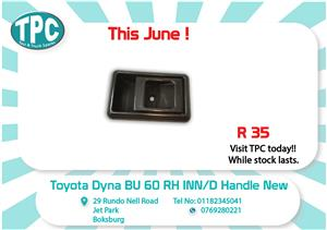 Toyota Dyna BU 60 RH INN/D Handle 85-95 New for Sale at TPC
