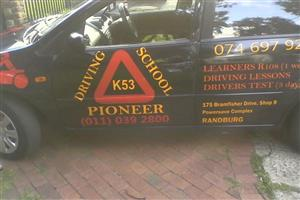 Pioneer Driving School:  Learners Booking, Computerized Test, Learners Test [first time] and Driver's Licence Booking