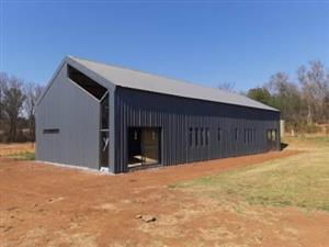 Steel structures for all your warehouse, farm shed and factory requirements.