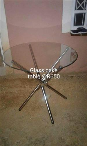 Glass cake table for sale