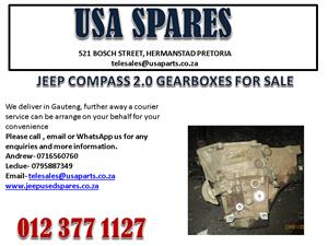 JEEP COMPASS 2.0 GEARBOX FOR SALE