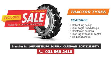 Tirecity Africa:  Importer & Supply of Forklift & Agri Tyres:  18.4-30 Tyres, 18.4-34 Tyres, 400/60-15.5 Tyres & more