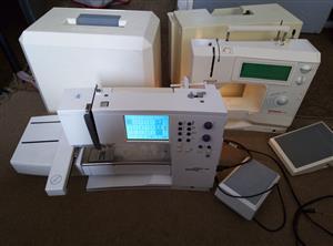 Two bernina embroidery and sewing machine combination bernina artista 165 and bernina 1630 inspiration plus