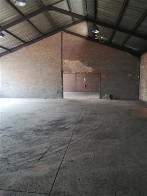600m2 warehouse to let in Wadeville, Germiston