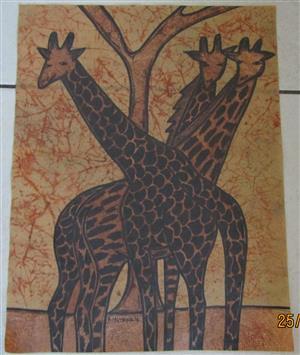 Original Ilokimayok - Giraffes 2016 - 390mm x 300mm