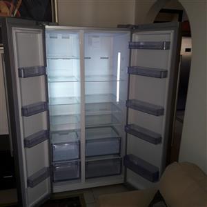 Defy Metallic Double Door Fridge Freezer F740 G91640 625L