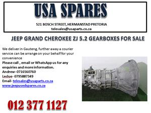 JEEP GRAND CHEROKEE ZJ 5.2 GEARBOX FOR SALE
