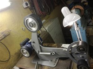 Knife making belt grinder