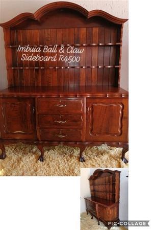 Imbuia Ball & Claw Sideboard