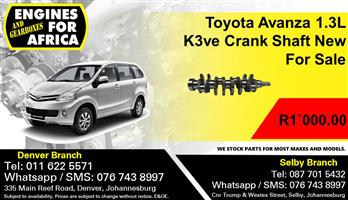 Toyota Avanza 1.3L K3ve Crank Shaft New For Sale