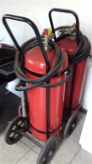 2 x 50kg fire extinguishers on wheels