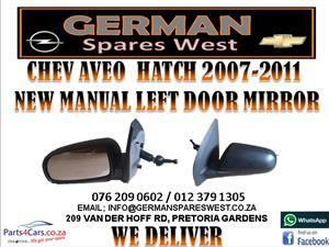 CHEV AVEO HATCH 2007-2011 NEW MANUAL LEFT DOOR MIRROR FOR SALE