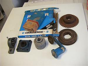 Bearing, sprockets and chains