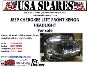 jeep cherokee left front headlight for sale