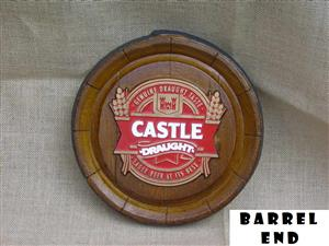 Castle Draught Beer Barrel Ends. Brand New Products.