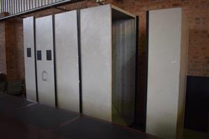 Large steel power cupboards for sale