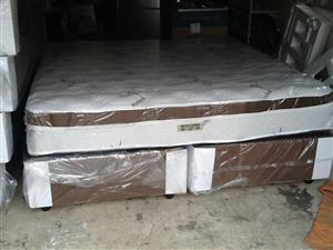 New Restonic King Size Eurotop Mattress and Base Set