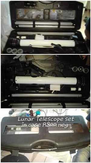 Lunar telescope set in case