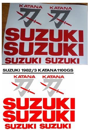 Graphics decals stickers kit for a 1982 Suzuki Katana 1100 GS