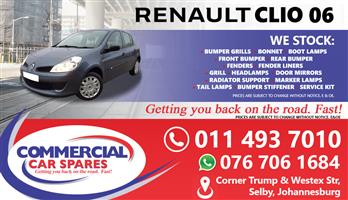 Renault Clio 2006 Parts and spares for sale