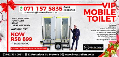 Mobile vip toilets for sale.(Single/Double).