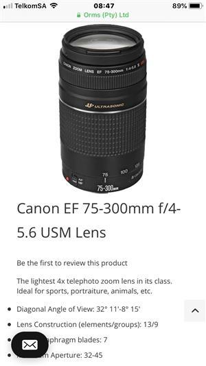Canon 75-300mm usm