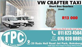 VW Crafter Short Box Gearbox - Used - Quality Replacement Taxi Spare Parts.