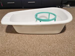 Baby bath, bath ring and potty training step