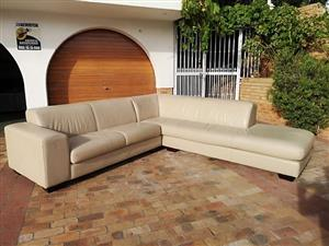 Corner Leather Couch 2.9 by 2.9 mtr Large Coricraft for sale.