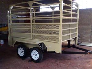 2.4m Cattle trailer with slide gate