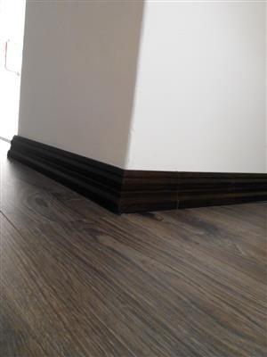 We do Wooden floors and skirtins