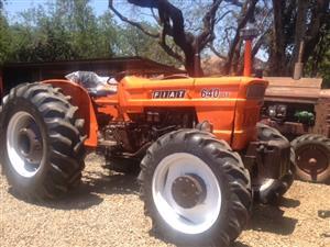 Orange Fiat 640 4x4 Pre-Owned Tractor