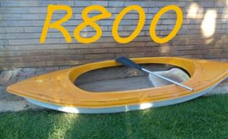 Yellow row boat for sale