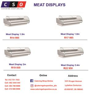 MEAT DISPLAYS AVAILABLE FOR SALE