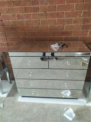 5 draw mirror chest of drawers for sale