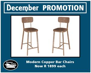 Modern Copper Bar Chairs