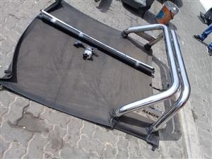 Ford Ranger double cab Stainless( Chrome ) Steel Rollbar and  Tonneau Covers