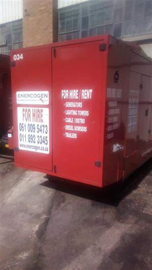 500 KVA Scania V8 silent diesel generator with closed cab