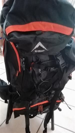 K-Way Echo 50 backpack. Never been used. Still in original package.