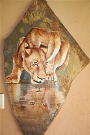 Slate paintings. 5 available Was R3000 each. Now R1500 each.