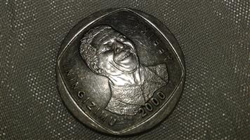 I'm selling a R5 Mandela coin for the year 2000