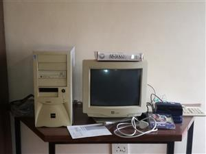 "Pentium 4 PC high tower, 14""CRT screen, printer cords, Easy photo scanner. Use for parts or other. PC enthusiasts"