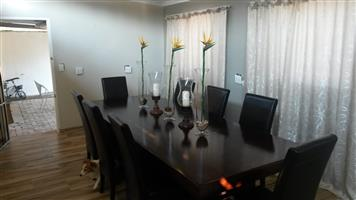 3 meter Dining Table with chairs