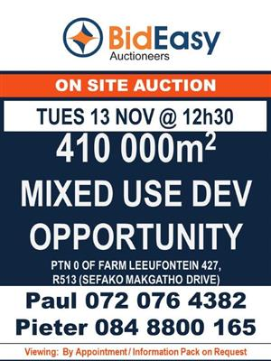 Development land on auction