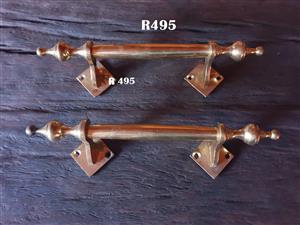 2 x Heavy Duty Solid Brass Handles