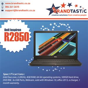 High Spec Dell Inspiron Laptop @ R2850