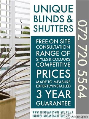 Blinds and shutters installations Hermanus and Overberg
