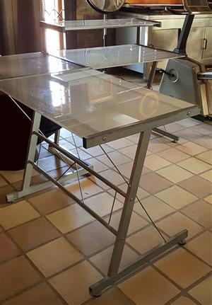 Glass and Aluminium Office Desk
